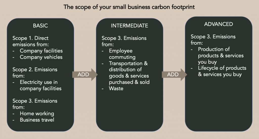 scope of your small business carbon footprint